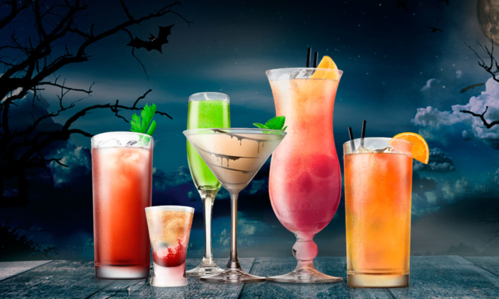 halloween, cocktails, cocteles